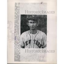 1949 Press Photo Bill Rizney 2nd baseman of NY Giants in Phoenix Arizona