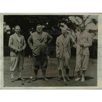 1930 Press Photo JH Almy, AC Fiske, FH Ecker, EH Milkes at golf at Pebble Beach