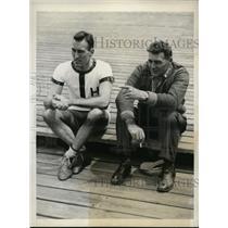1935 Press Photo Samuel Drury Harvard crew captain & coach Charles Whiteside