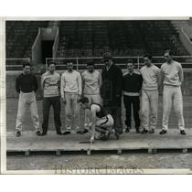 1931 Press Photo Members of Univ. of Pennsylvania track team at Franklin Field