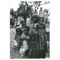 1991 Press Photo Refugees Ethiopia