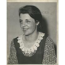 1932 Press Photo Dona Bergman of Detroit