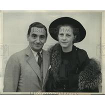 1936 Press Photo Mr & Mrs Irving Berlin aboard the Ile De France en route NY