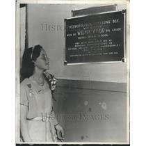 1932 Press Photo Wilma Pyle Spelling Bee Champ Plaque - RRR49599