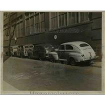1916 Press Photo Navy Cars In Alley Next To Staclium George - nef10402