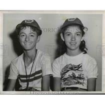 1952 Press Photo Papaleo and Johnson, Bike Brigade Rodeo Winners - nef12633
