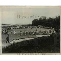 1930 Press Photo Gourlay, E Wilson vs G Collett, M Bennet Curtis Cup golf