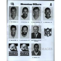 1989 Press Photo Football Pro Group Houston Oilers - spa33201