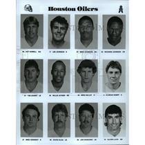 1989 Press Photo Football Pro Group Houston Oilers - spa33202