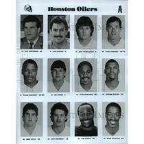1989 Press Photo Football Pro Group Houston Oilers - spa33203