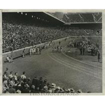 1932 Press Photo General view of Franklin Field during 100 yd dash, Penn Relays