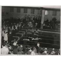 1938 Press Photo Start of 50 yard free style swimming event, NCAA Champsionships