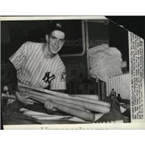 1939 Press Photo Tim Sullivan, Yankees Batboy - cvb76433