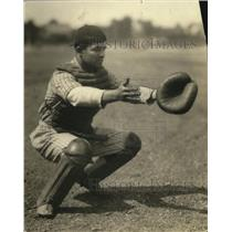 1924 Press Photo Olsen is the catcher for Saint Stanislaus School - cvb76698