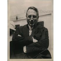 1922 Press Photo William Randolph Hearst sails to Europe on S.S. Aquitania