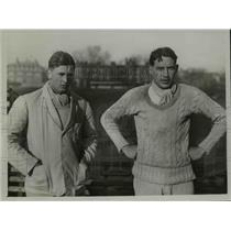 1929 Press Photo TC Livingstone, GC Weightman-Smith Cambridge track - net23138