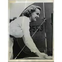 1941 Press Photo Ms E. Wood Chosen Miss Collegiate Aviation At 3-Day Air Meet