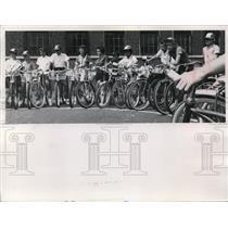 1960 Press Photo Bike Brigade - nef17012