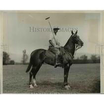 1930 Press Photo CA Brandt for Military Academy polo match - net23818