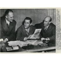 1949 Press Photo Herb Pennock, Joseph F.Reardon and Robert M.Carpenter