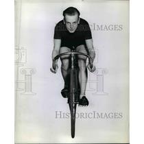 1942 Press Photo Jules Audy, Canadian cyclist - net24278