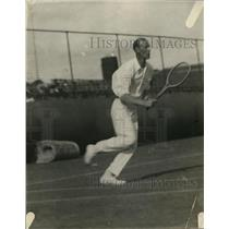 1921 Press Photo Tennis player J.W. Anderson in action on the court - net24911