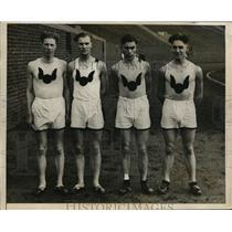 1925 Press Photo Hamilton Institute track Little, Adams, Fitzpatrick, Rice