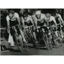1984 Press Photo Bicycle Racing Olympic Trials Scott Johnson, Tom Taylor