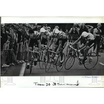 1984 Press Photo Bicycle Racing Olympic Trials - spa33671