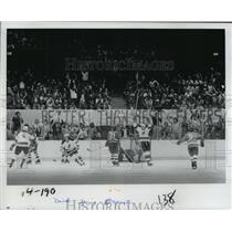 1977 Press Photo Hockey Action - spa33792