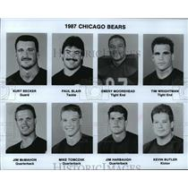 1987 Press Photo Football Pro Chicago Bears - spa34214