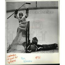 1964 Press Photo Hockey Action Ken Kinney and Gregg Anderson - spa34737