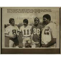 1974 Press Photo Possible football greats for the future, NY Giants' rookies.