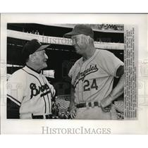 1959 Press Photo Managers for Los Angeles Dodgers and Milwaukee Braves.