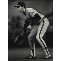 1986 Press Photo Wally Joyner rookie star of the Angels. - mjs03631