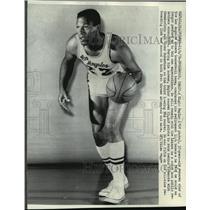 1968 Press Photo Elgin Baylor, veteran star of the Los Angeles Lakers team.