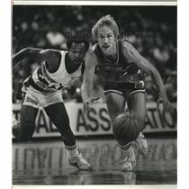 1982 Press Photo Dallas Mavericks guard Brad Davis - nes52139