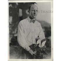 1932 Press Photo Golfer Ernest J. Peterson at Wyantenuck Country Club
