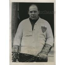 "1935 Press Photo Hobart College lacrosse player ""Man Mountain"" Arthur Johnson"