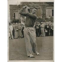 1936 Press Photo Golfer Henry Picard drives from tee during National Open
