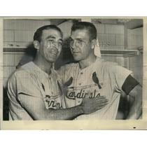 1968 Press Photo Sal Maglie won his first game for the St Louis Cardinals.