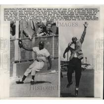 1967 Press Photo Sandy Amoros' most remembered feat in baseball in 1955 Series.