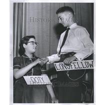 1954 Press Photo Spelling Bee Layla Pearl Richard