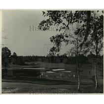 1928 Press Photo View of one of Houston's famous golf courses. - mjx16026