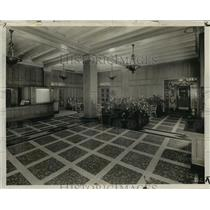 1937 Press Photo The Hotel Wisconsin redecorated lobby. - mjx15875