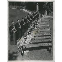 1937 Press Photo Japanese Festival Koto Shakuhachi