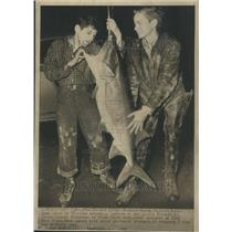 1948 Press Photo Ohio River Giant Catfish - RRR67675