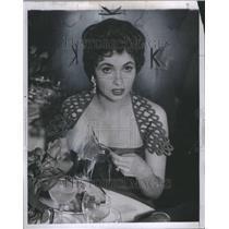 1954 Press Photo Gina Lollobrigida Actress Photojournal