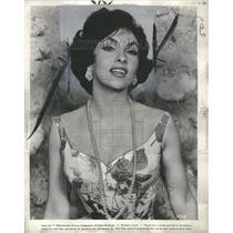 1960 Press Photo Gina Lollobrigida Actress Photo Journa