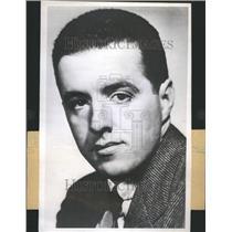 1948 Press Photo Frank Handy Newspaperman